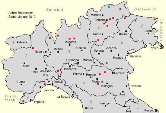Norditalien Karte.Bahntrassenradeln Italien Achim Bartoschek