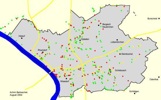 Fahrradwegweisung In Der Stadt Leverkusen Analyse Achim Bartoschek