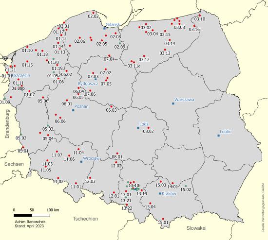 Polen Karte 2019.Bahntrassenradeln Polen Achim Bartoschek