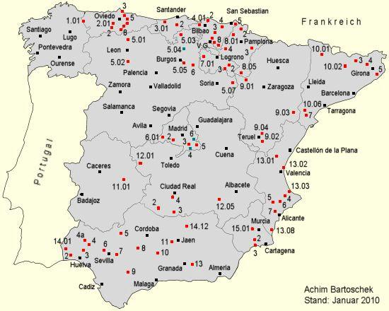 Andalusien Karte Spanien.Bahntrassenradeln Spanien Achim Bartoschek